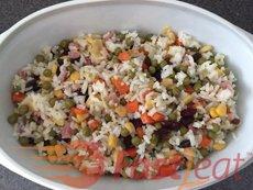 Brazilian Greek Style Rice (Arroz à grega) Fast2eat Recipe