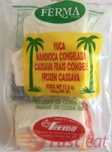 You can buy frozen yuca/cassava already peeled or use a fresh one.  I use frozen yuca for ease of preparation.