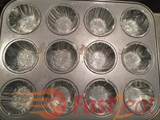 Generously butter about 3 small 12 cupcake pan* (or individual aluminum ramekins). Avoid shallow pans, higher pans make Quindins look better. The result is quite another visually speaking.