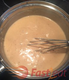 "Prepare <a href=""http://fast2eat.com/recipe/chicken-bechamel/"">Chicken Béchamel sauce</a> according to its recipe."