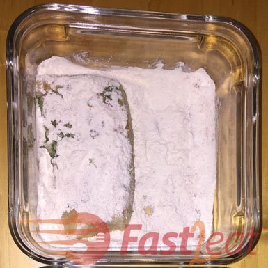 In a separate container, mix flour, salt and paprika