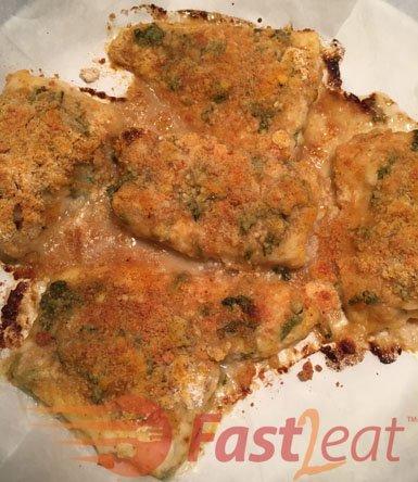 When it's done baking, if you like, garnish with parsley and lemon zest or any other fresh herbs all over the fish to make it even more yummy and mouthwatering!